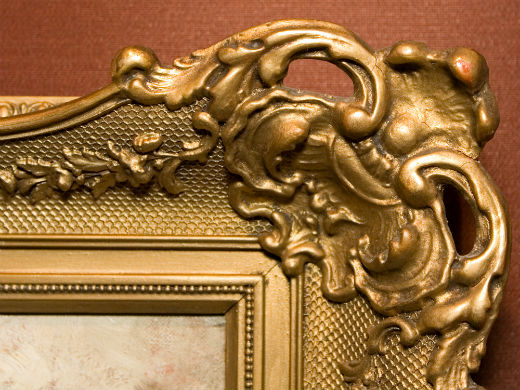Intricate design of an art frame